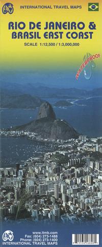 RIO DE JANEIRO plan miasta 1:12 500 BRAZYLIA - WSCHODNIE WYBRZEŻE mapa 1:3 000 000 ITMB