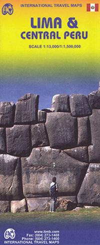 LIMA plan miasta 1:13 000 ŚRODKOWE PERU mapa 1:1 500 000 ITMB