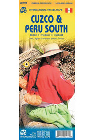 CUZCO 1:110 000 POŁUDNIOWE PERU mapa 1:1 500 000 ITMB
