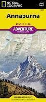 ANNAPURNA Adventure Map NATIONAL GEOGRAPHIC