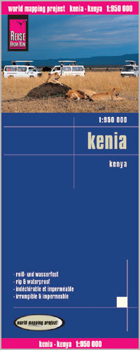 KENIA mapa 1:950 000 REISE KNOW HOW