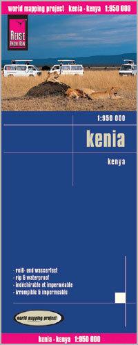 KENIA mapa 1:950 000 REISE KNOW HOW