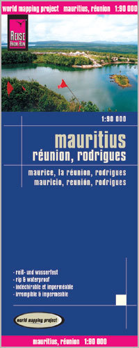 MAURITIUS REUNION RODRIGUES mapa 1:90 000 REISE KNOW HOW
