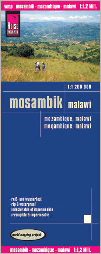 MOZAMBIK MALAWI mapa 1:1 200 000 REISE KNOW HOW