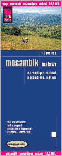 MOZAMBIK MALAWI mapa 1:1 200 000 REISE KNOW HOW