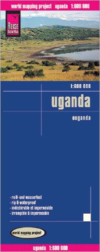 UGANDA mapa 1:600 000 REISE KNOW HOW