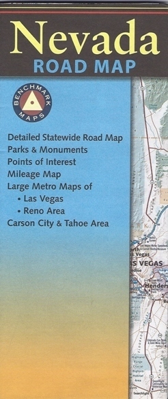 NEWADA mapa drogowa LAS VEGAS Benchmark Maps USA