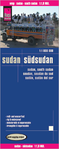SUDAN I SUDAN POŁUDNIOWY mapa 1:1 800 000 REISE KNOW HOW