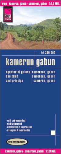 KAMERUN GABON GWINEA RÓWNIKOWA mapa 1:1 300 000 REISE KNOW HOW