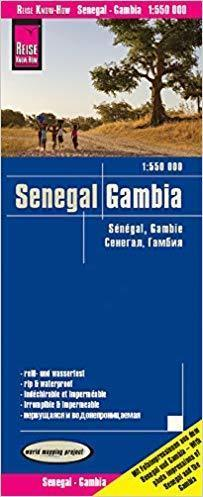 SENEGAL GAMBIA mapa 1:550 000 REISE KNOW HOW 2019