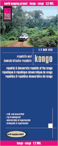 KONGO i DEMOKRATYCZNA REPUBLIKA KONGO mapa 1:2 000 000 REISE KNOW HOW