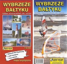 WYBRZEŻE BAŁTYKU Karwia-Władysławowo-Hel-Gdynia mapa turystyczna 1:50 000 EKOGRAF