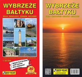 WYBRZEŻE BAŁTYKU Wolin-Świnoujście-Dziwnów-Niechorze mapa turystyczna 1:50 000 EKOGRAF