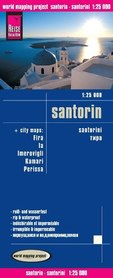 SANTORINI mapa 1:25 000 REISE KNOW HOW