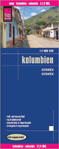KOLUMBIA mapa 1:1 400 000 REISE KNOW HOW