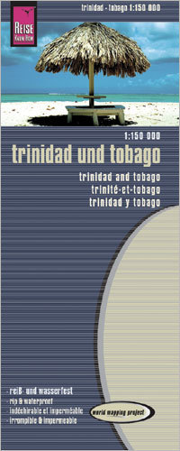 TRINIDAD I TOBAGO mapa 1:150 000 REISE KNOW HOW