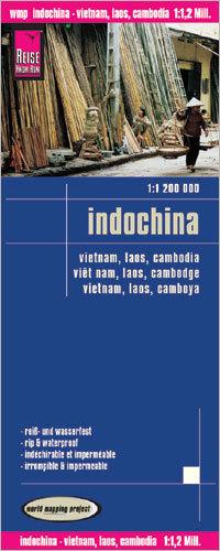 INDOCHINY - WIETNAM LAOS KAMBODŻA mapa 1:1 200 000 REISE KNOW HOW