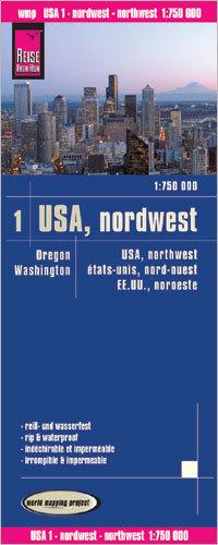 USA CZ. 1 PÓŁNOCNY ZACHÓD mapa 1:750 000 REISE KNOW HOW