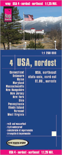 USA CZ. 4 PÓŁNOCNY WSCHÓD mapa 1:1 250 000 REISE KNOW HOW