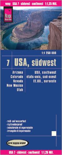 USA CZ. 7 POŁUDNIOWY ZACHÓD mapa 1:1 250 000 REISE KNOW HOW