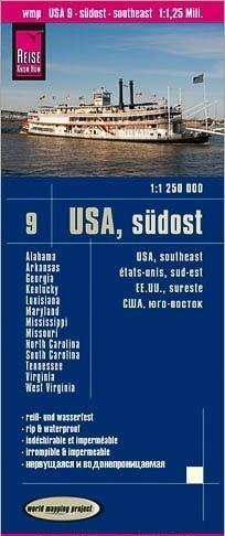 USA CZ. 9 POŁUDNIOWY WSCHÓD mapa 1:1 250 000 REISE KNOW HOW