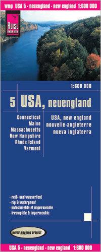 USA CZ. 5 NOWA ANGLIA mapa 1:600 000 REISE KNOW HOW