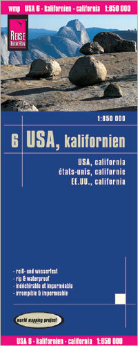 USA CZ. 6 KALIFORNIA mapa 1:850 000 REISE KNOW HOW