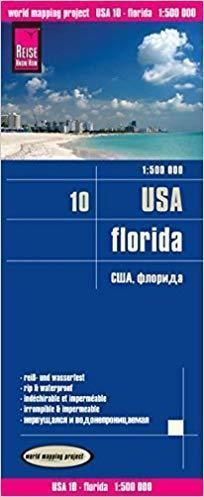 USA CZ. 10 FLORYDA mapa 1:500 000 REISE KNOW HOW