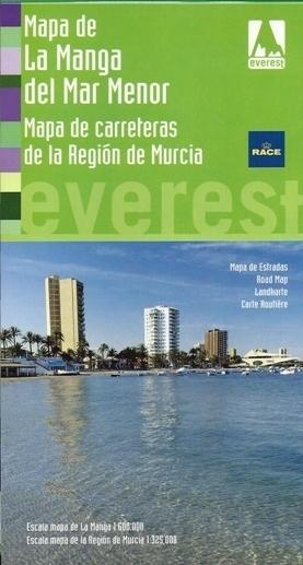 MURCIA mapa regionu LA MANGA DEL MAR MENOR plan miasta EVEREST