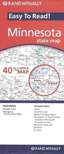 MINNESOTA mapa samochodowa RAND McNALLY USA