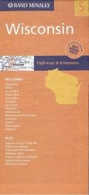 WISCONSIN mapa samochodowa RAND McNALLY USA