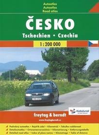 CZECHY atlas samochodowy 1:200 000 FREYTAG & BERNDT