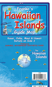 HAWAJE HAWAIIAN ISLANDS mapa wodoodporna 1:1 176 500 FRANCO