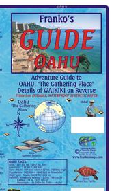 OAHU WAIKIKI (HAWAJE) mapa wodoodporna 1:176 000 FRANCO