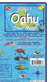 OAHU (HAWAJE) mapa dla nurków wodoodporna FRANCO