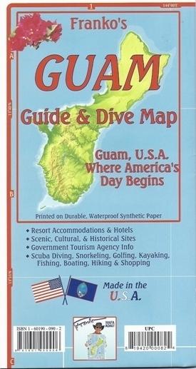 GUAM Guide & Dive Map - mapa wodoodporna 1:94 000 FRANCO