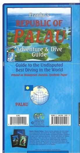 PALAU Adventure & Dive Guide - mapa wodoodporna FRANCO