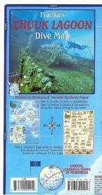 CHUUK (TURK) LAGOON Adventure & Dive Guide - mapa wodoodporna FRANCO