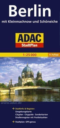 BERLIN I OKOLICE plan miasta 1:25 000 ADAC