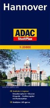HANNOVER I OKOLICE plan miasta 1:20 000 ADAC