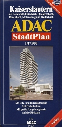 KAISERSLAUTERN LEIPZIG plan miasta 1:17 500 ADAC