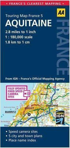 AKWITANIA mapa samochodowa 1:180 000 AA