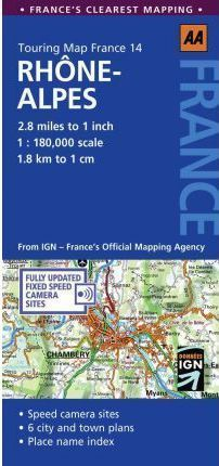RODAN ALPY mapa samochodowa 1:180 000 AA