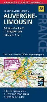 LIMOUSIN I OWERNIA mapa samochodowa 1:180 000 AA