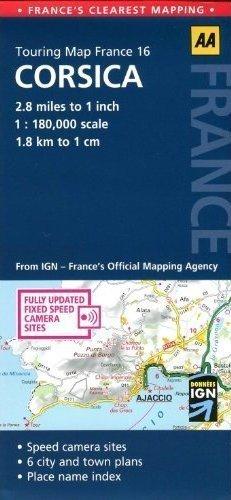 KORSYKA mapa samochodowa 1:180 000 AA