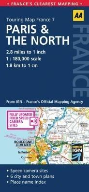 PARYŻ I PÓŁNOC FRANCJI mapa samochodowa 1:180 000 AA