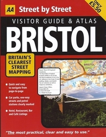 BRISTOL BATH CLEVEDON PORTISHEAD WESTON-SUPER-MARE YATE atlas miasta AA