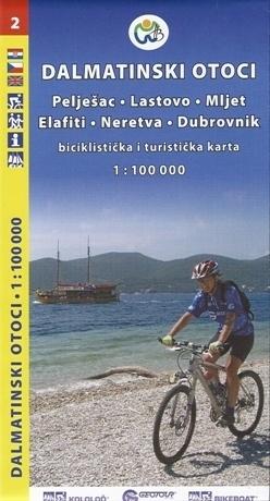 CHORWACJA WYSPY DALMACJI CZ. 2 mapa rowerowa 1:100 000 GEOTOUR