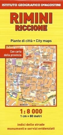 RIMINI RICCIONE plan miasta 1:8 000 / 1:6 500 DeAGOSTINI