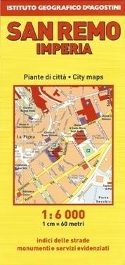 SAN REMO IMPERIA plan miasta 1:6 000 / 1:6 500 DeAGOSTINI